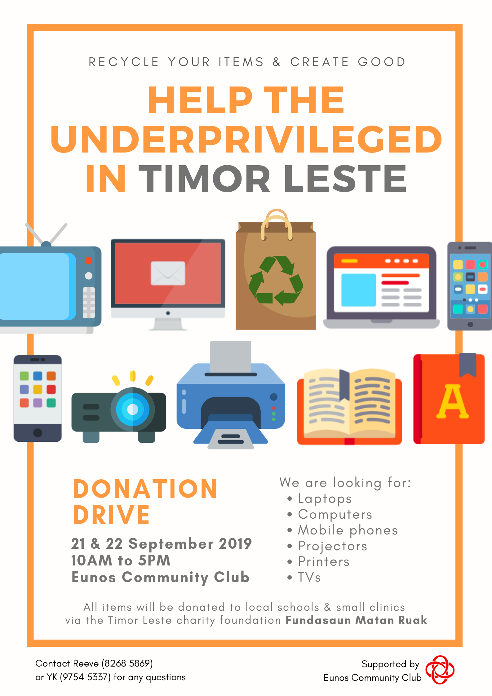 Help The Underprivileged In Timor Leste It Donation Drive