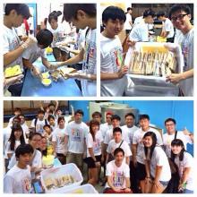 Eunos Youths make Sandwiches for Sunlove-Kampong Elderly