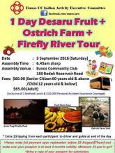 1 Day Desaru Fruit & Ostrich Farm & Firefly River Tour