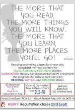 Reading and Writing Classes for 6-year-old